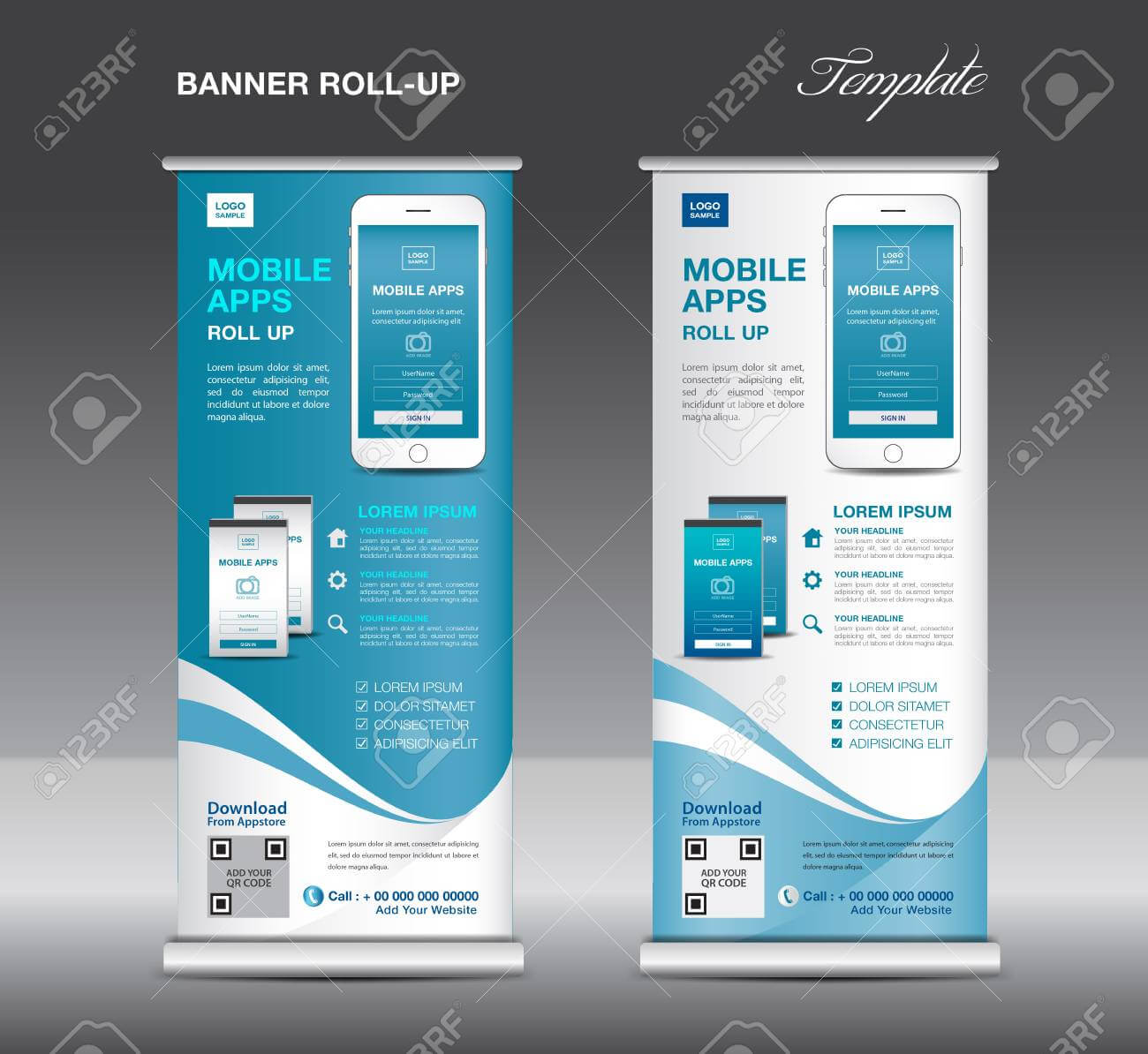 Banner Roll In Retractable Banner Design Templates