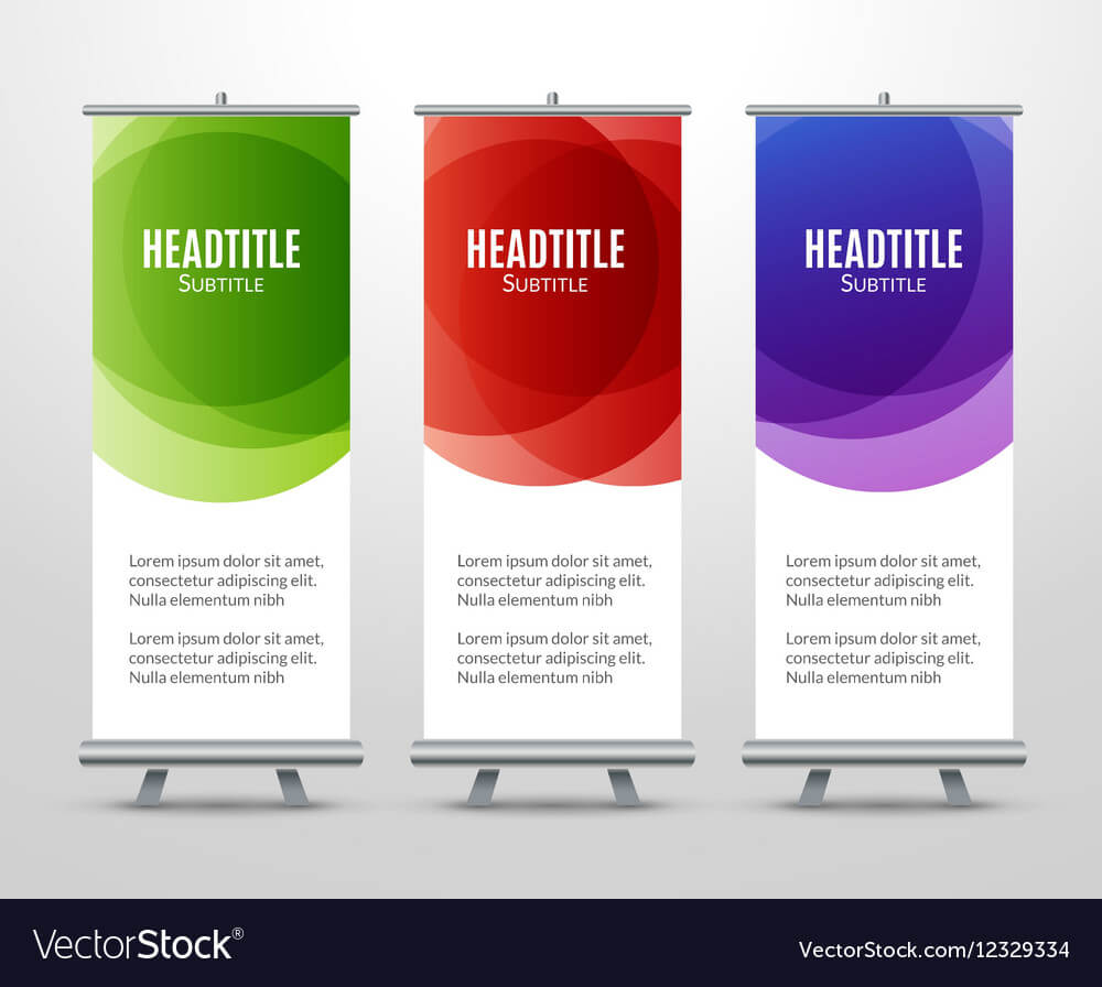 Banner Stand Design Template With Abstract With Banner Stand Design Templates