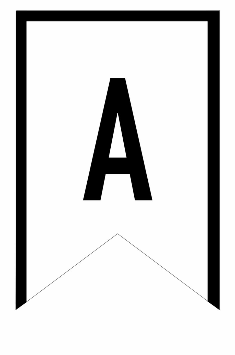 Banner Templates Free Printable Abc Letters – Printable Inside Triangle Banner Template Free