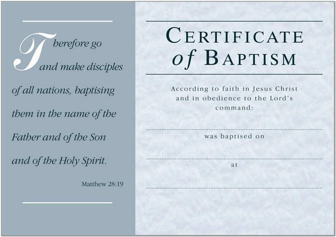 Baptism Certificate Template Church Of England - Templates Intended For Baptism Certificate Template Word