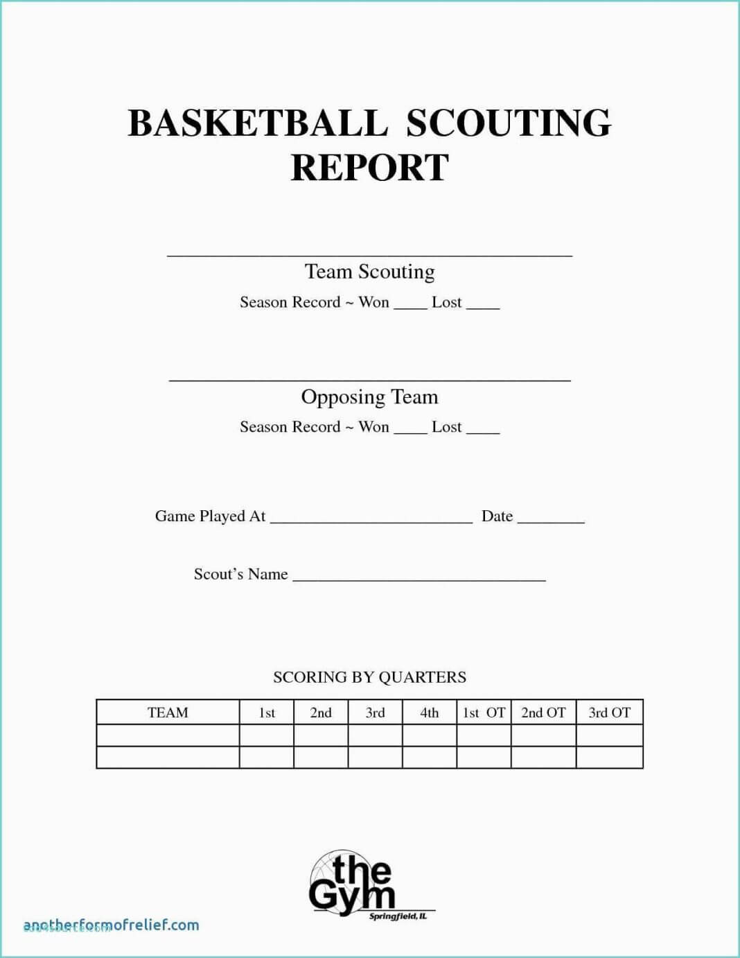 Basketball Scouting Report Template Examples Word Example Intended For Scouting Report Template Basketball