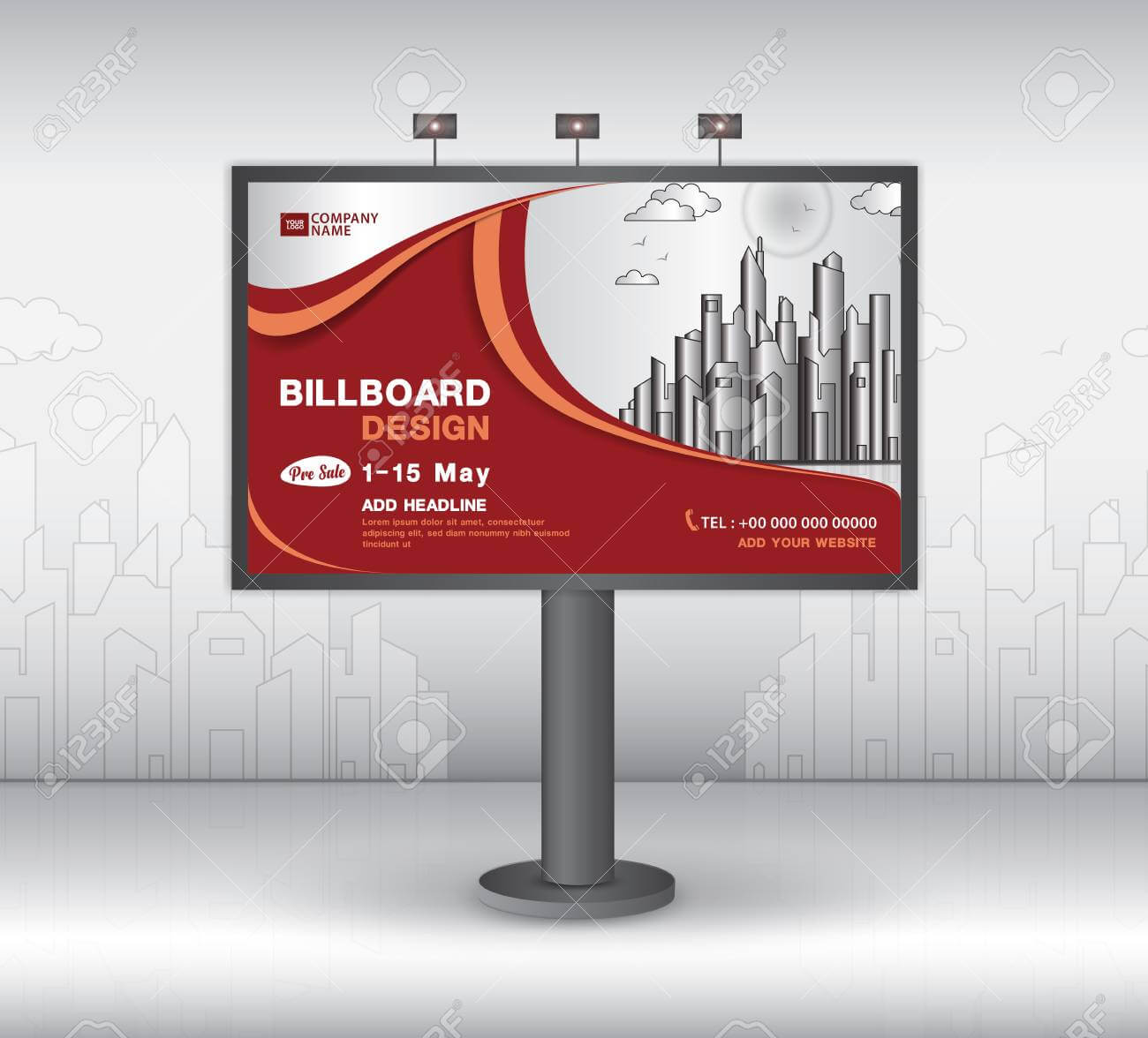 Billboard Banner Template Vector Design, Advertisement, Realistic.. Intended For Outdoor Banner Template