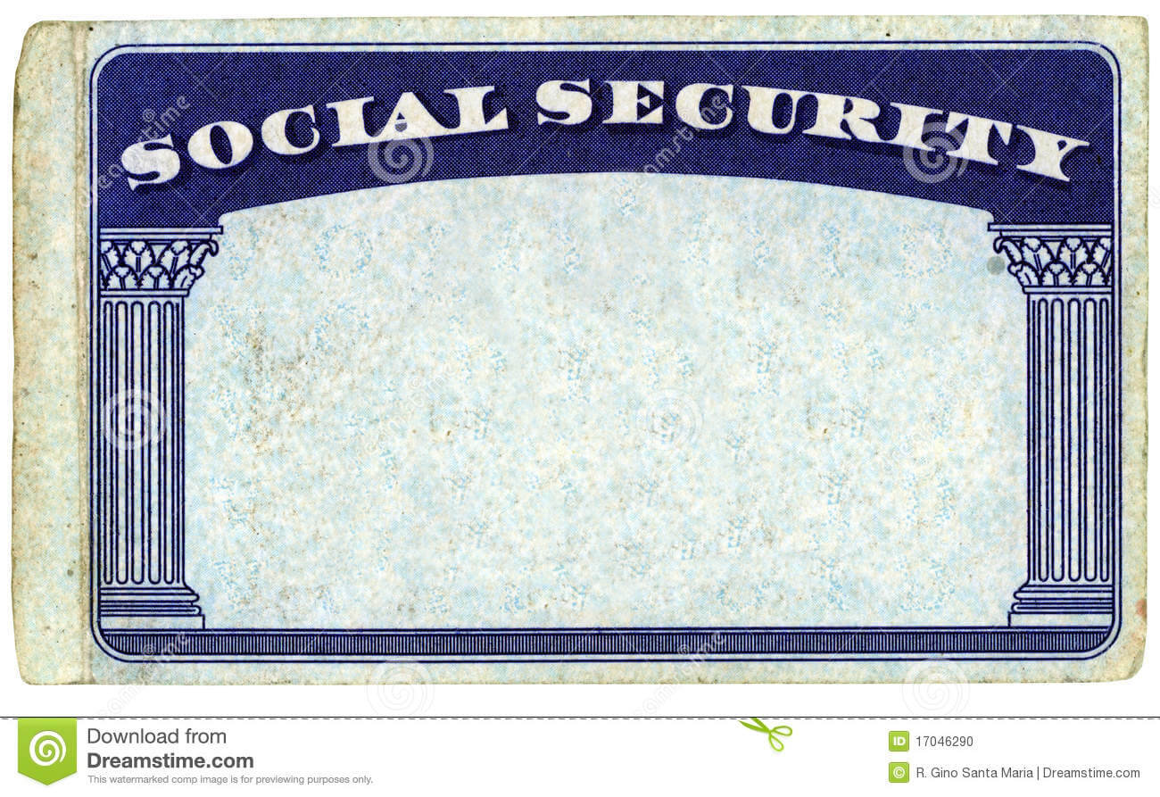 Blank American Social Security Card Stock Photo - Image Of With Blank Social Security Card Template Download