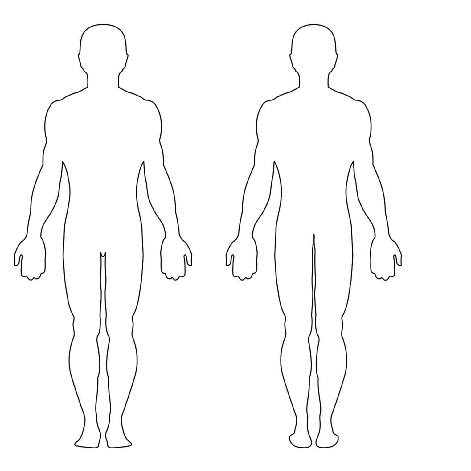 Blank Body Clipart With Blank Body Map Template