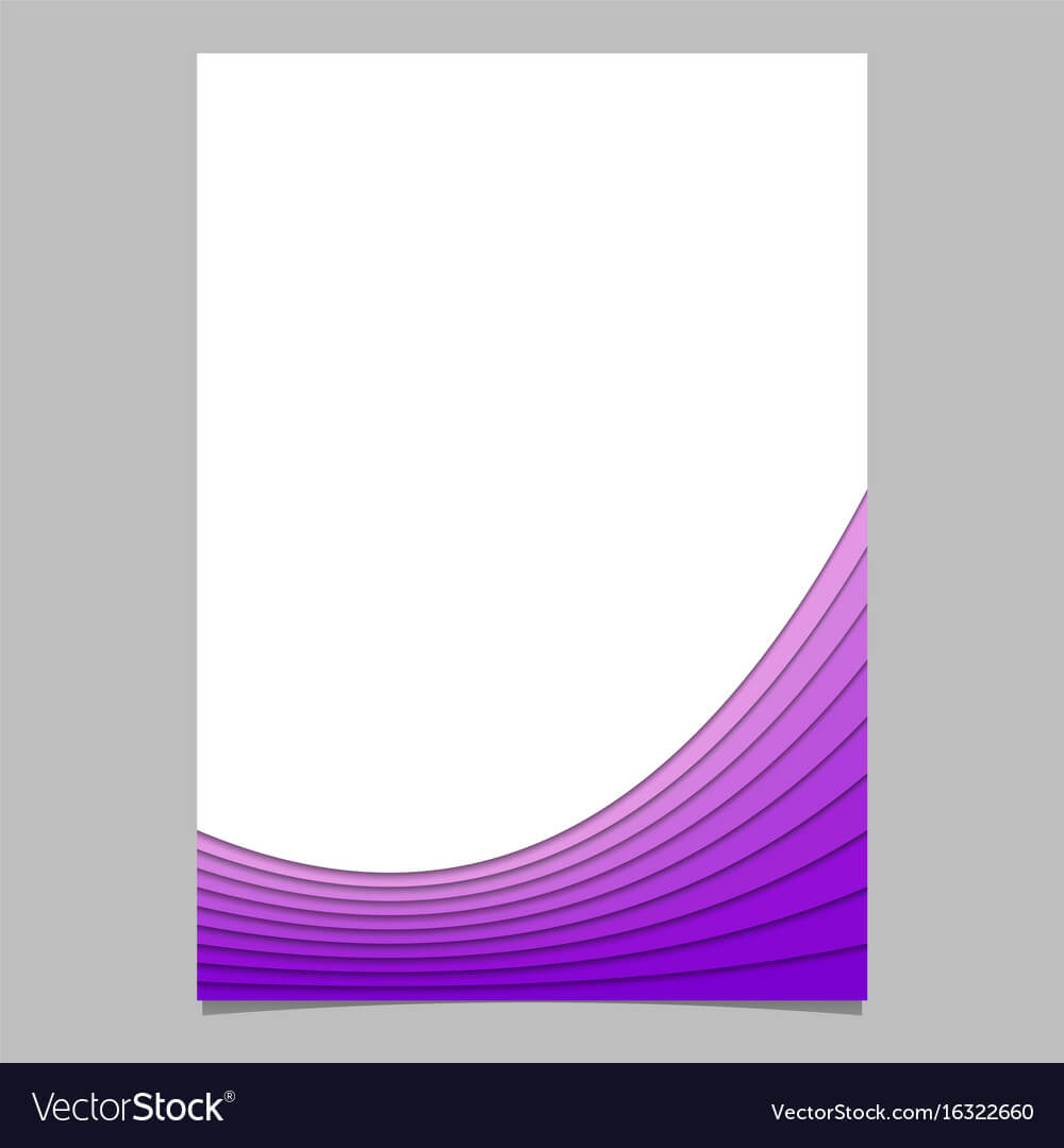 Blank Brochure Template From Curves - Flyer Pertaining To Blank Templates For Flyers