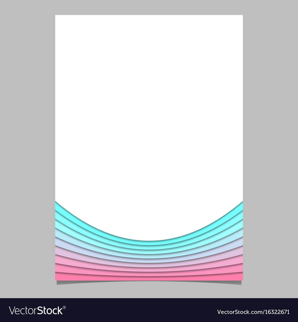 Blank Brochure Template From Curves - Flyer Within Blank Templates For Flyers