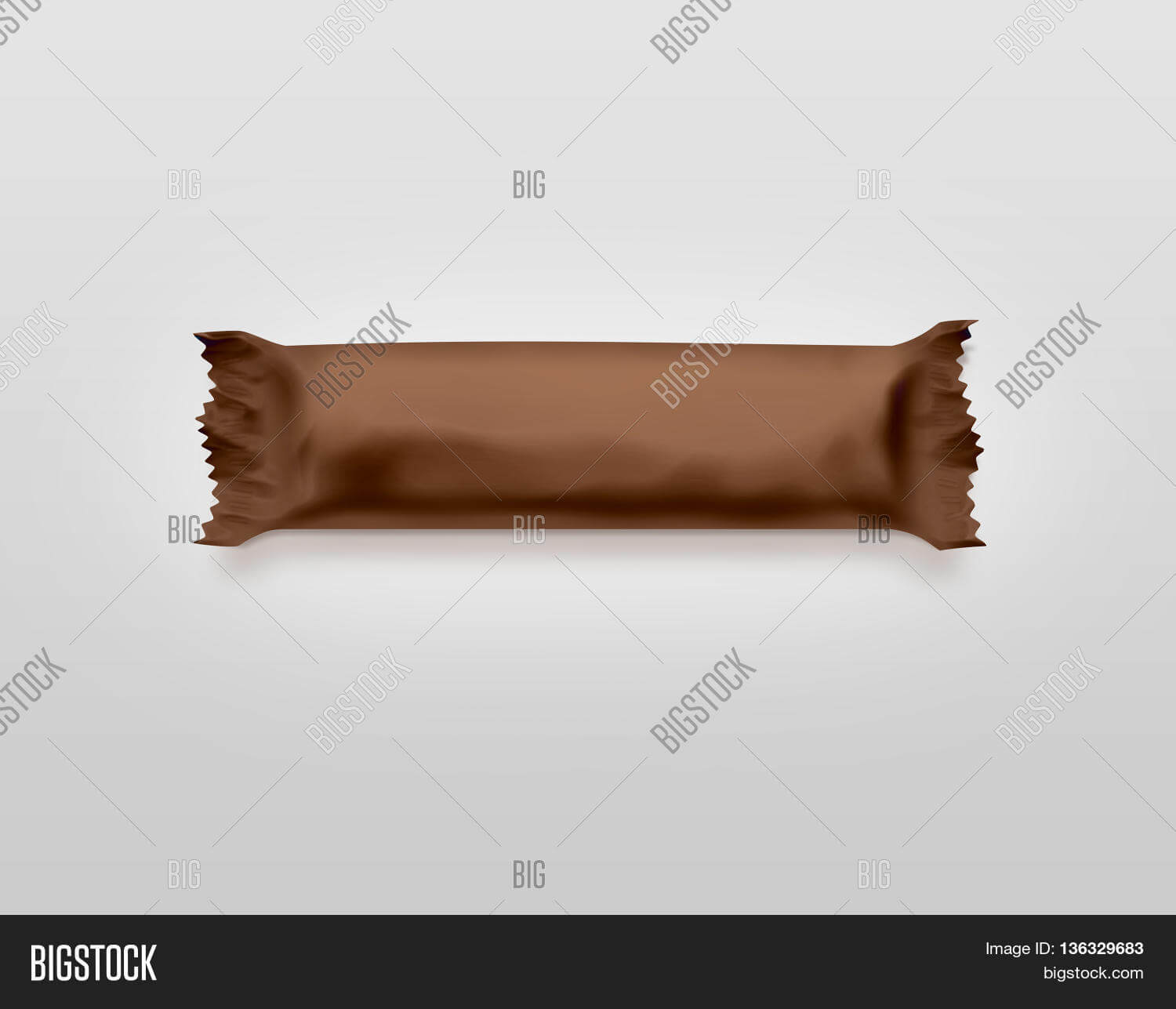 Blank Brown Candy Bar Image & Photo (Free Trial)   Bigstock Pertaining To Free Blank Candy Bar Wrapper Template