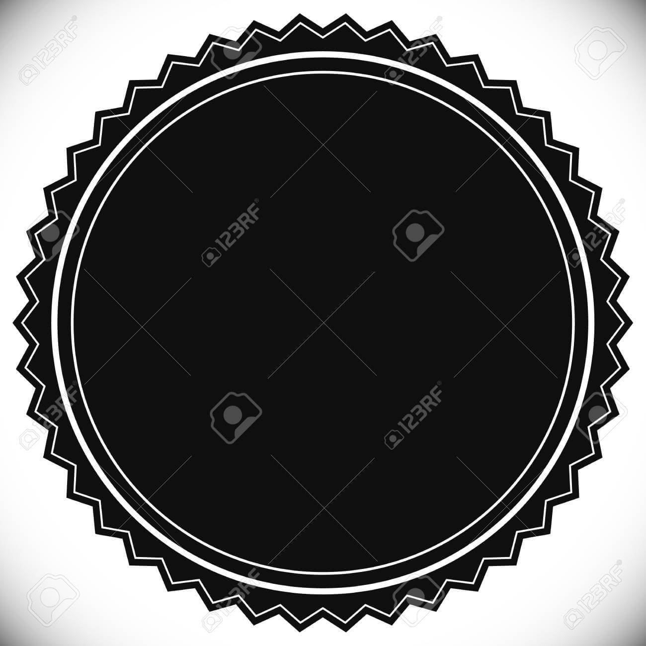 Blank Empty Stamp, Seal Or Badge Template For Blank Seal Template
