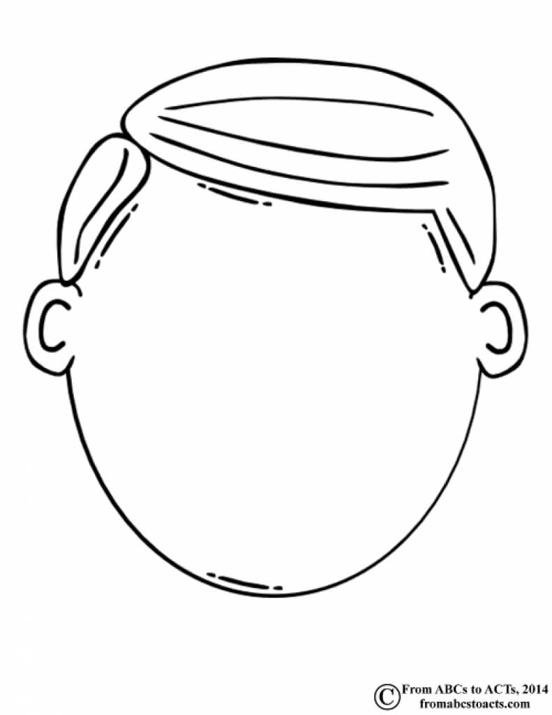 Blank Face Clipart Black And White For Blank Face Template Preschool
