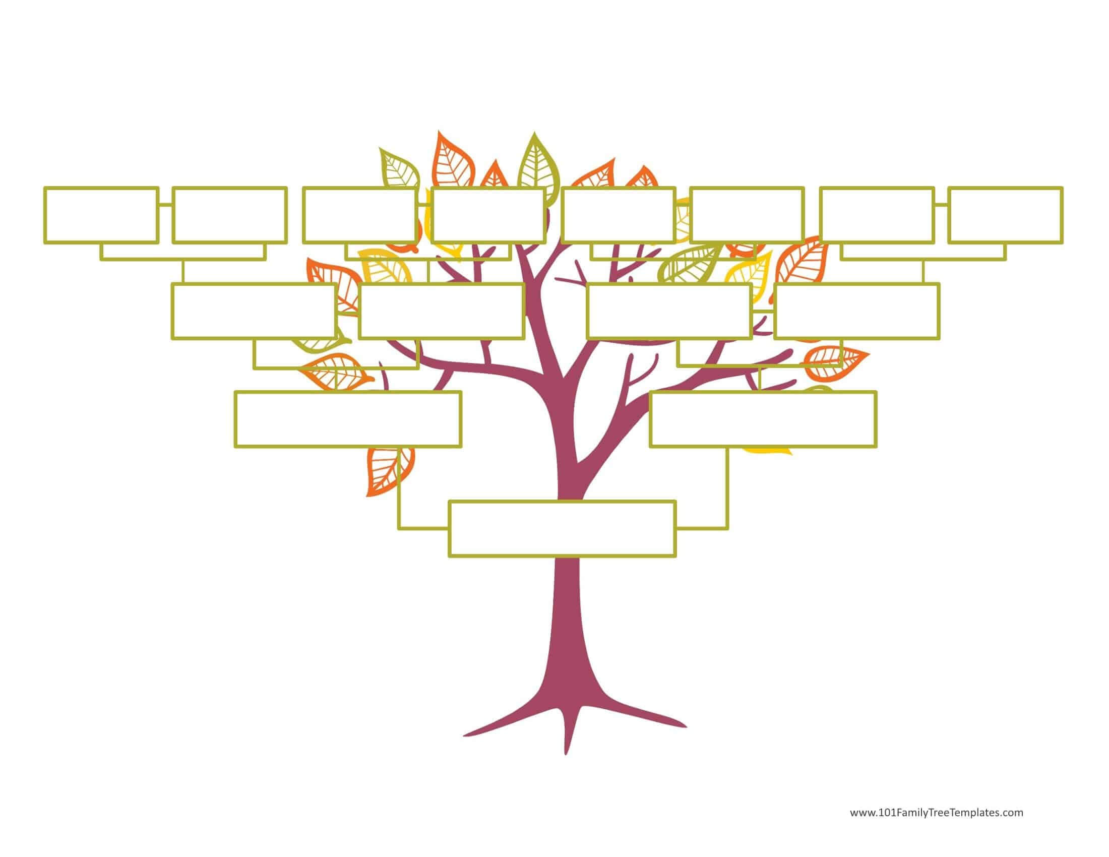 Blank Family Tree Template   Free Instant Download Regarding Fill In The Blank Family Tree Template