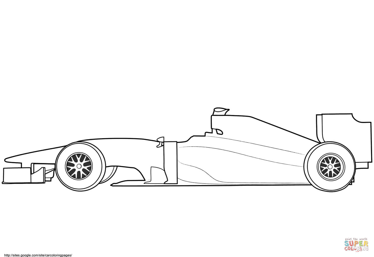 Blank Formula 1 Race Car Coloring Page | Free Printable Intended For Blank Race Car Templates