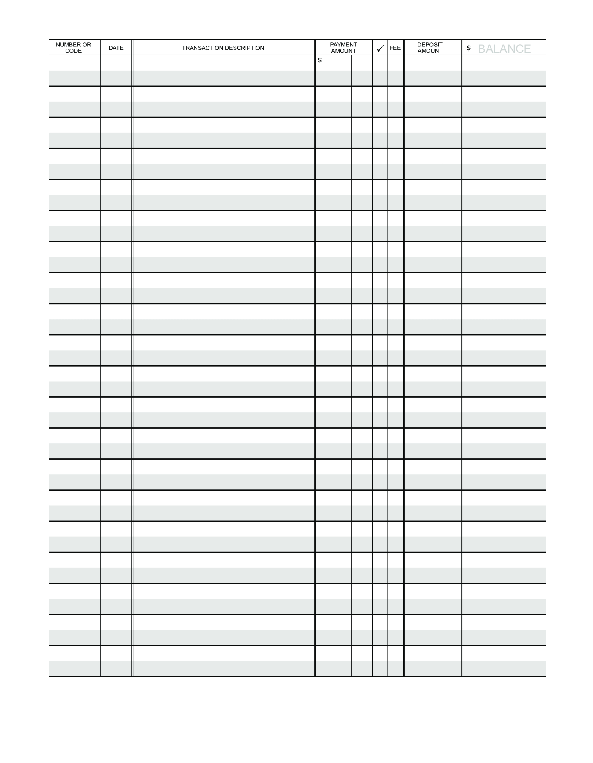 Blank Ledger Paper | Templates At Allbusinesstemplates With Blank Ledger Template