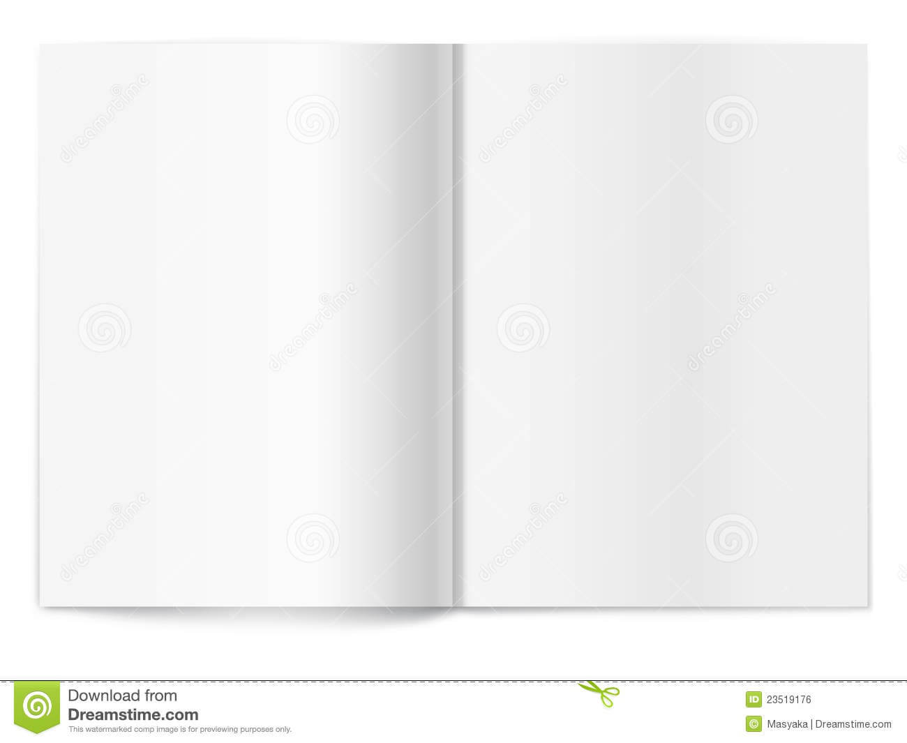 Blank Magazine Spread. Template For Design Stock Vector For Blank Magazine Spread Template