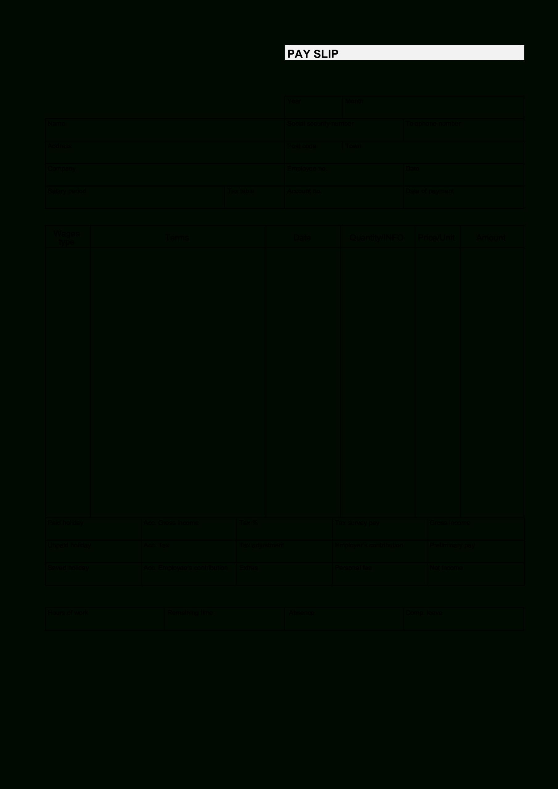 Blank Pay Stub Printable | Templates At Allbusinesstemplates With Blank Pay Stubs Template