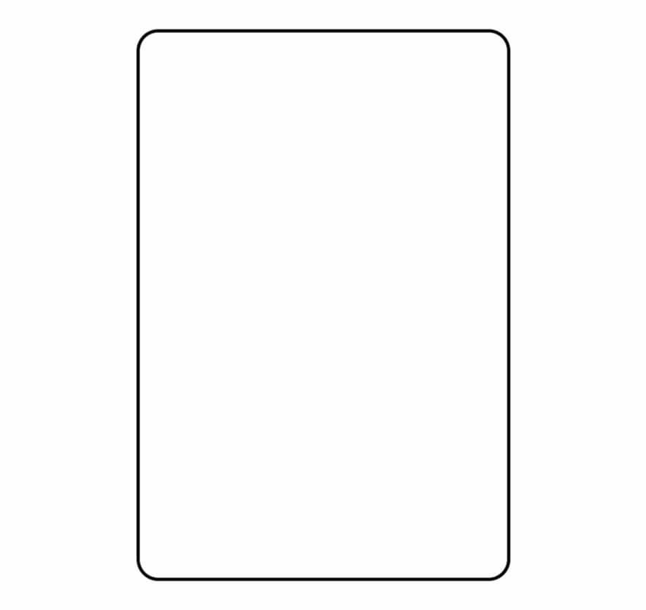 Blank Playing Card Template Parallel - Clip Art Library Within Blank Playing Card Template