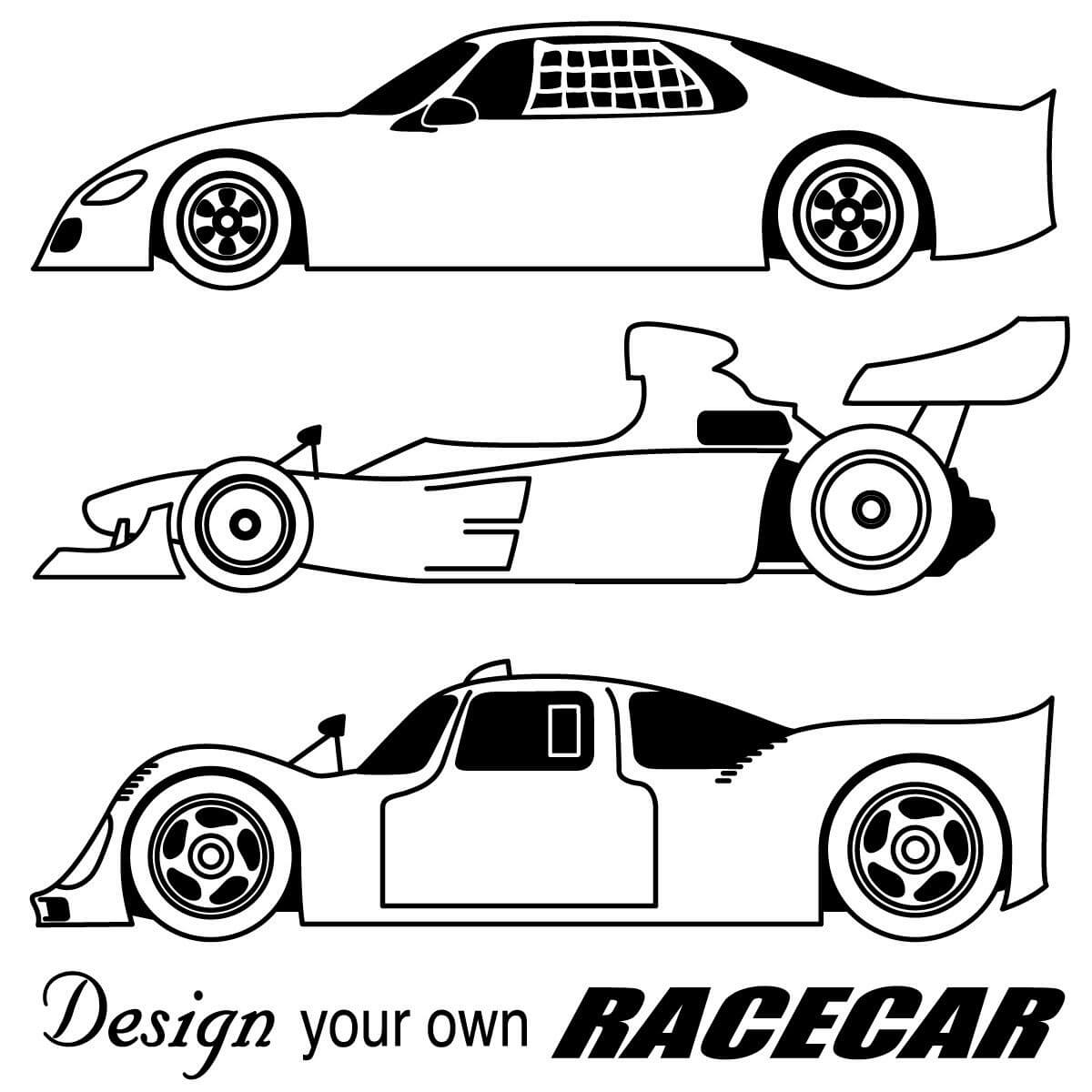 Blank Race Car Coloring Pages With Regard To Blank Race Car Templates