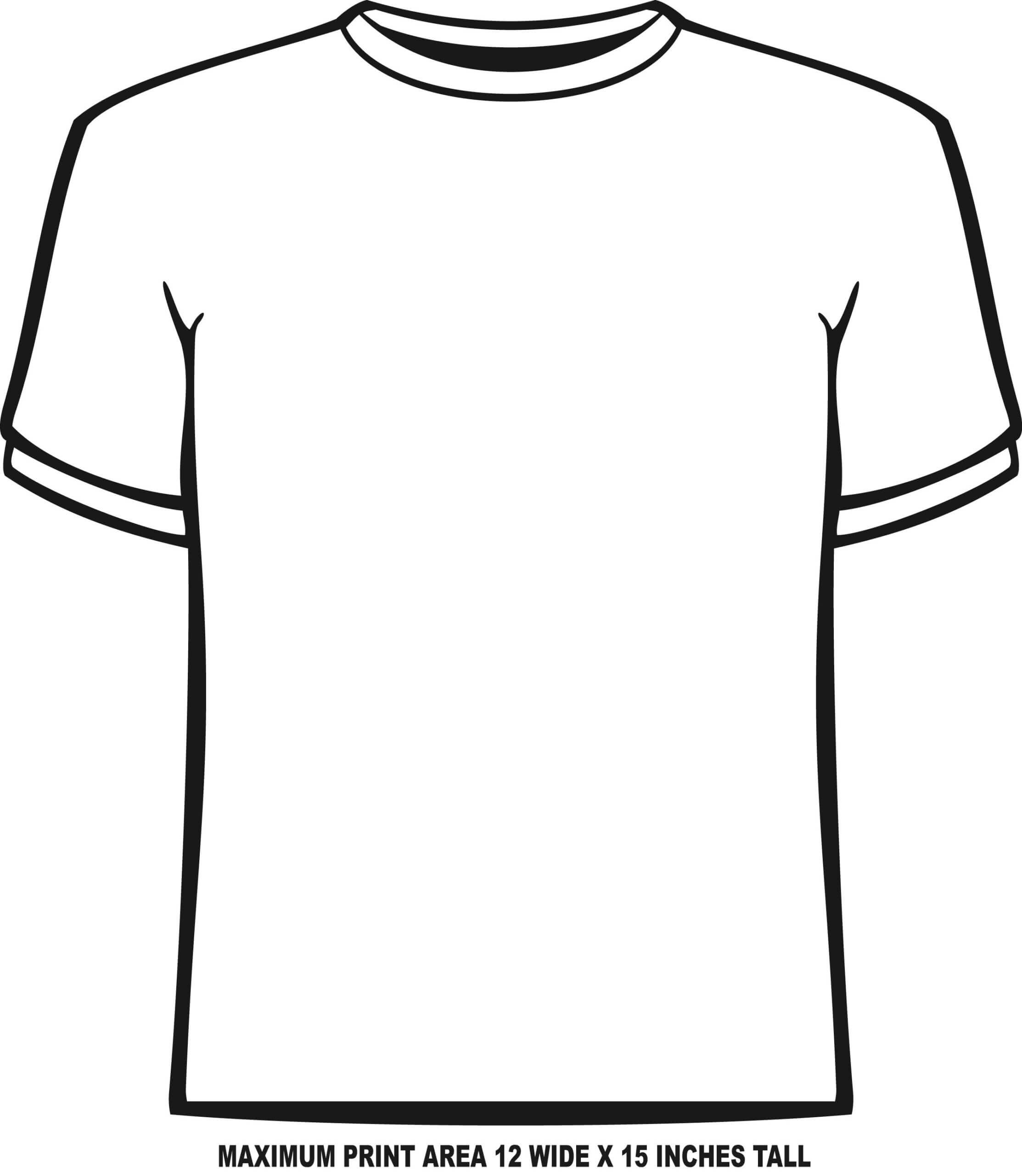 Blank Tshirt Template Pdf - Dreamworks With Blank Tshirt Template Pdf