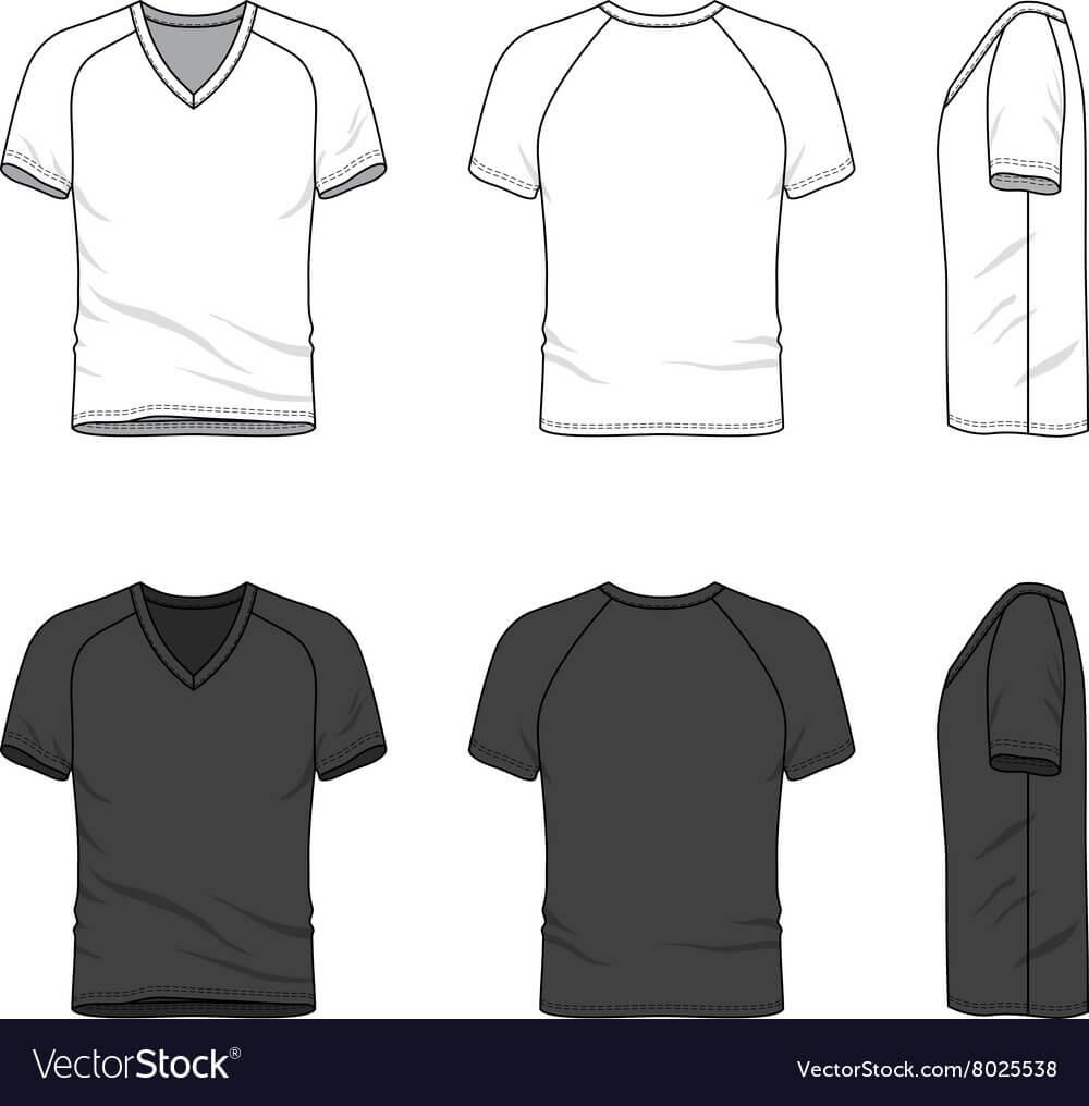 Blank V Neck T Shirt Inside Blank V Neck T Shirt Template