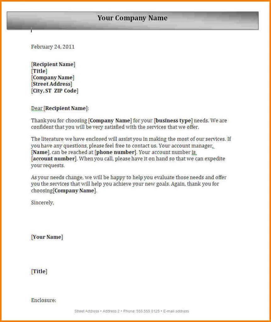 Block Letter Format With Letterhead Full Spacing Semi Pdf Pertaining To Microsoft Word Business Letter Template