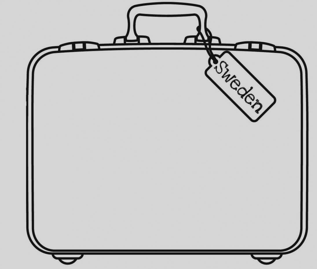 Briefcase Clipart Empty Suitcase, Briefcase Empty Suitcase Regarding Blank Suitcase Template