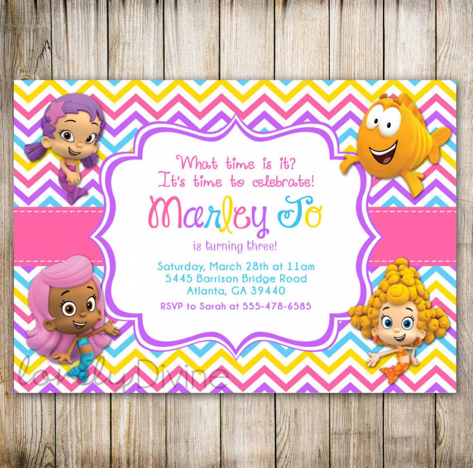Bubble Guppies Birthday Invitation Template – Best Happy In Bubble Guppies Birthday Banner Template