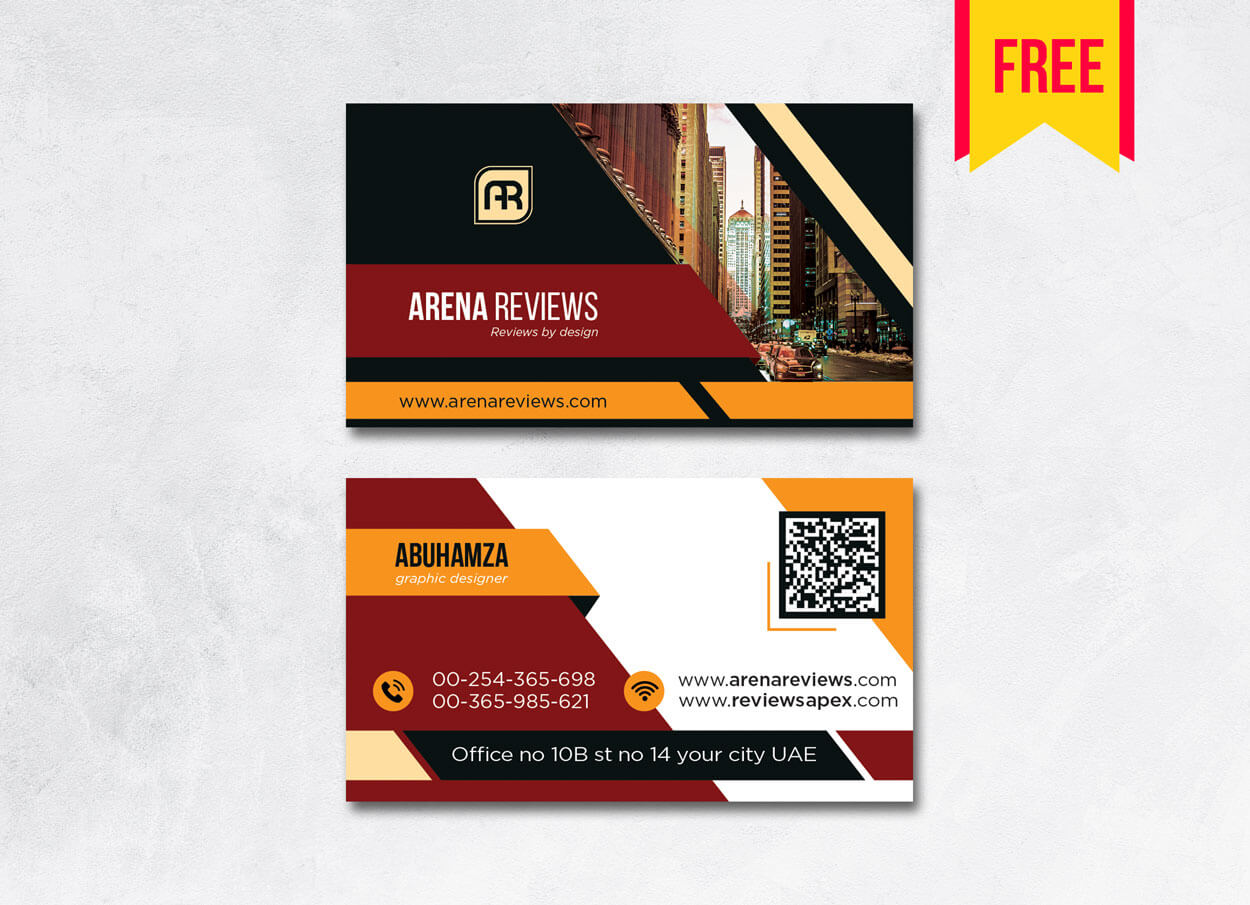 Building Business Card Design Psd – Free Download | Arenareviews With Regard To Blank Business Card Template Download