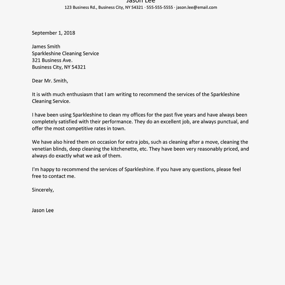 Business Reference Letter Examples Within Business Reference Template Word