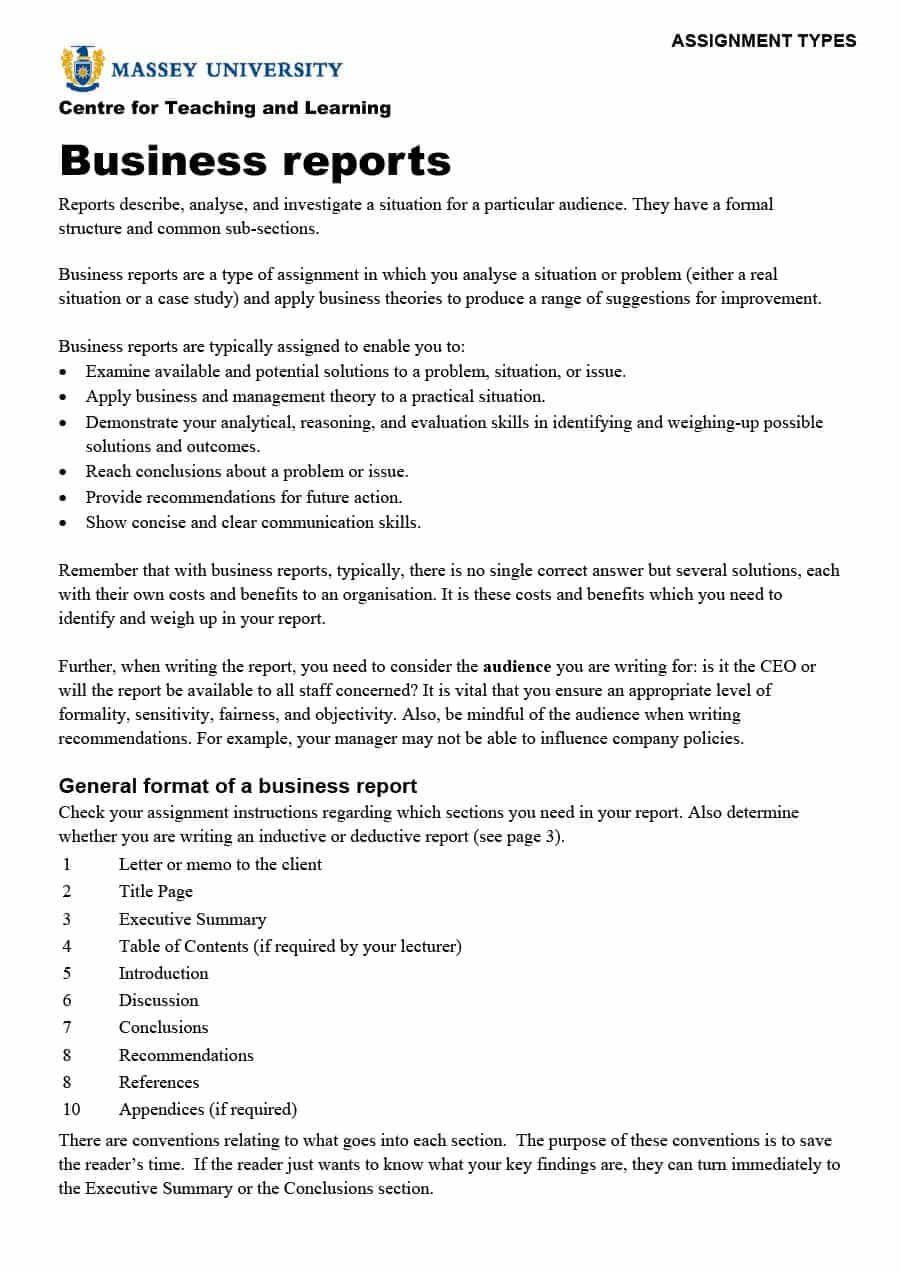 Business Report Sample - Zohre.horizonconsulting.co Inside Company Report Format Template