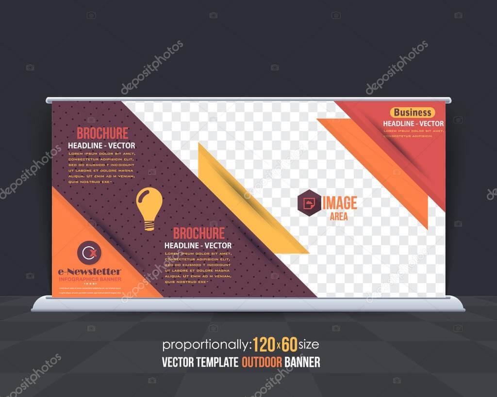 Business Theme Outdoor Banner Design, Advertising Vector Throughout Outdoor Banner Design Templates
