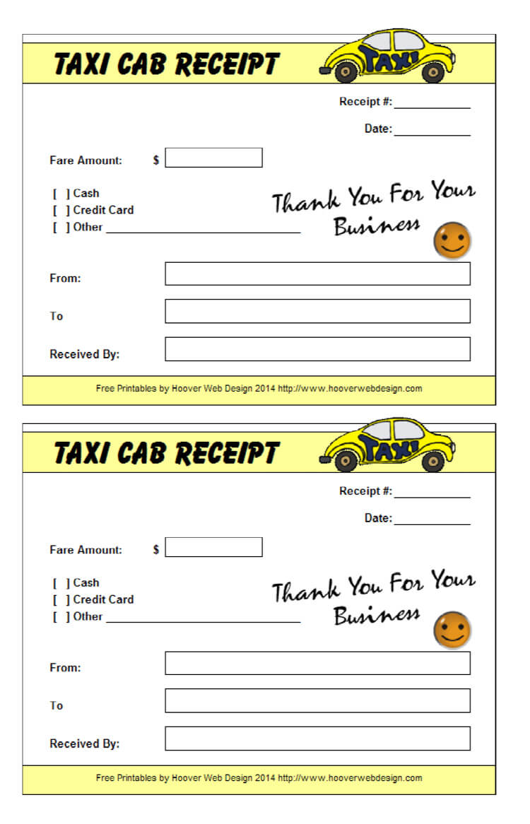 Cab Bill Pdf – Colona.rsd7 For Blank Taxi Receipt Template