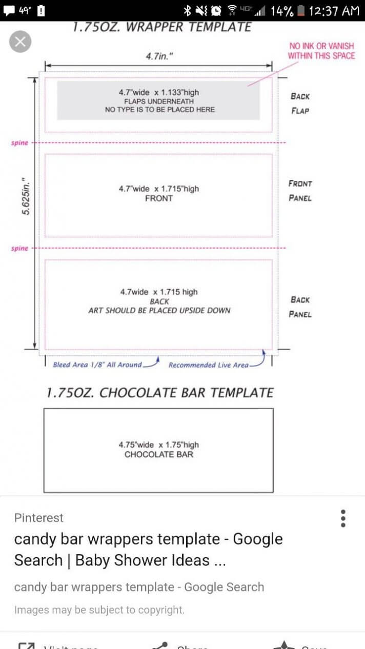Candy Bar Wrapper Template Chocolate With Peanut Mock Up For Inside Candy Bar Wrapper Template For Word
