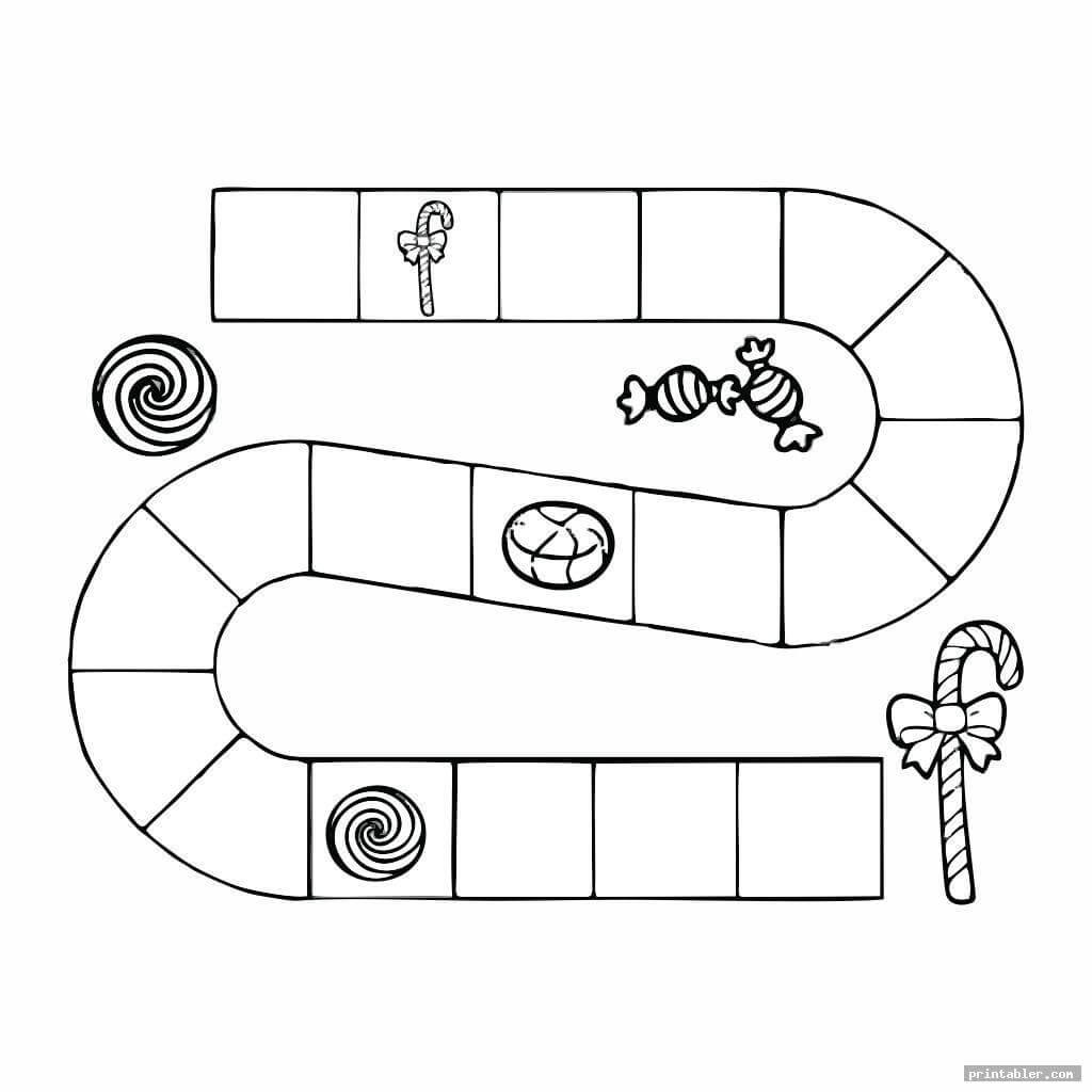Candyland Board Template Printable - Printabler Inside Blank Candyland Template