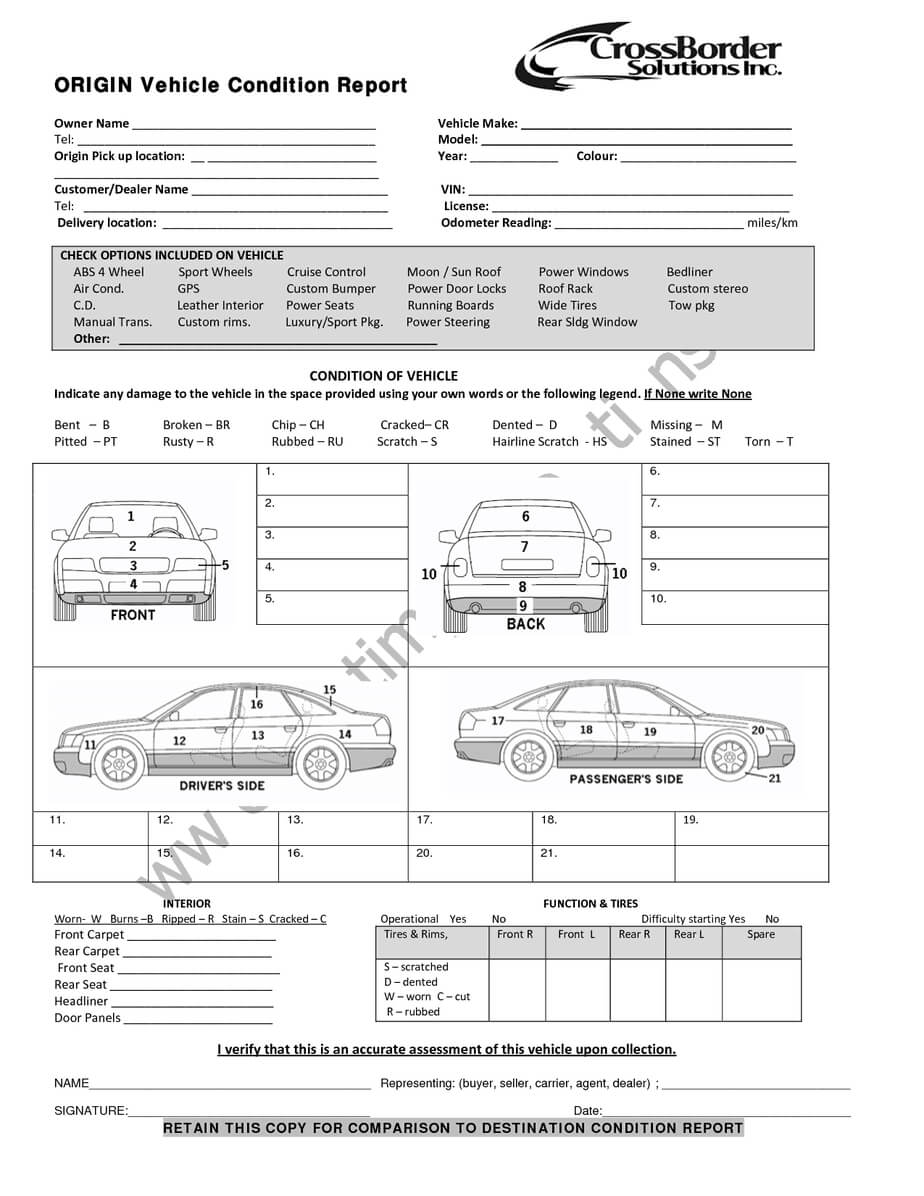 Car Damage Report For Nce Claim Template Sample Insurance With Car Damage Report Template