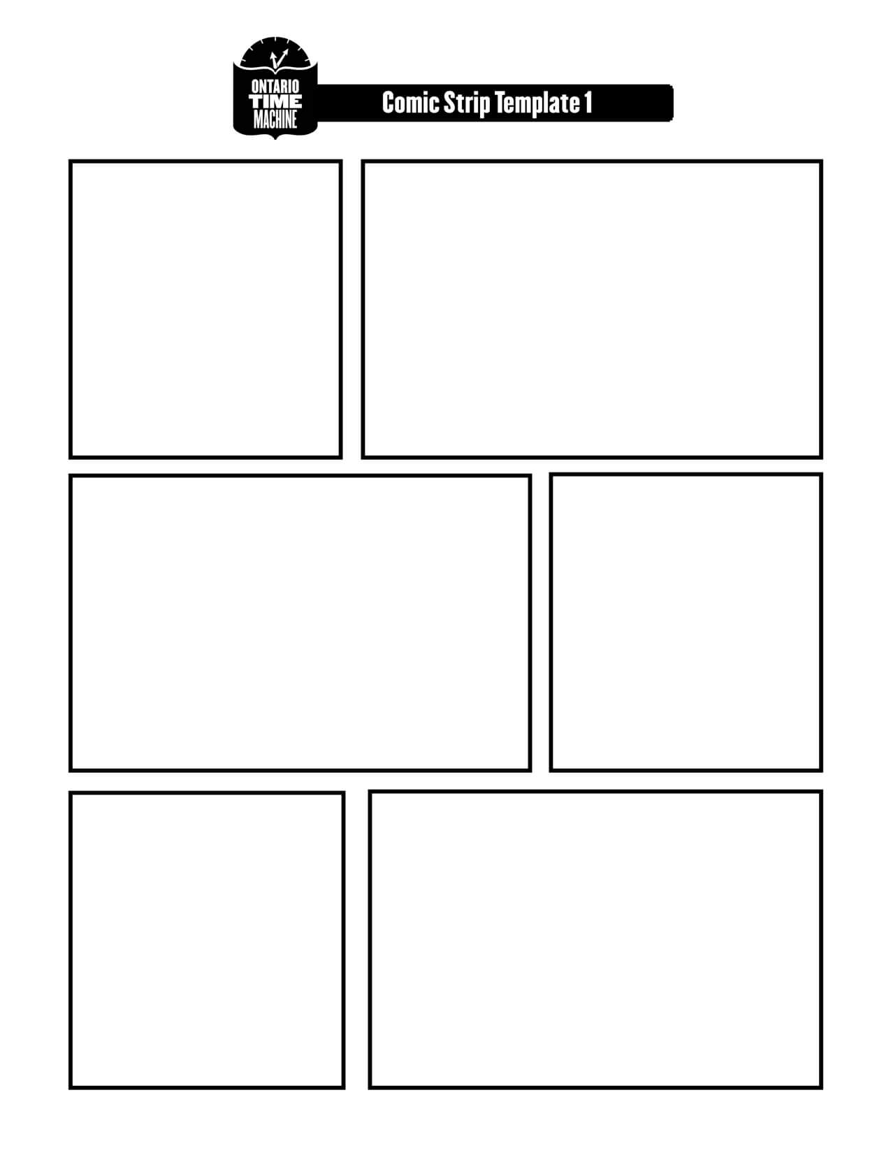 Cartooning Blanks Here Are A Few Ideas For You On Working On With Regard To Printable Blank Comic Strip Template For Kids