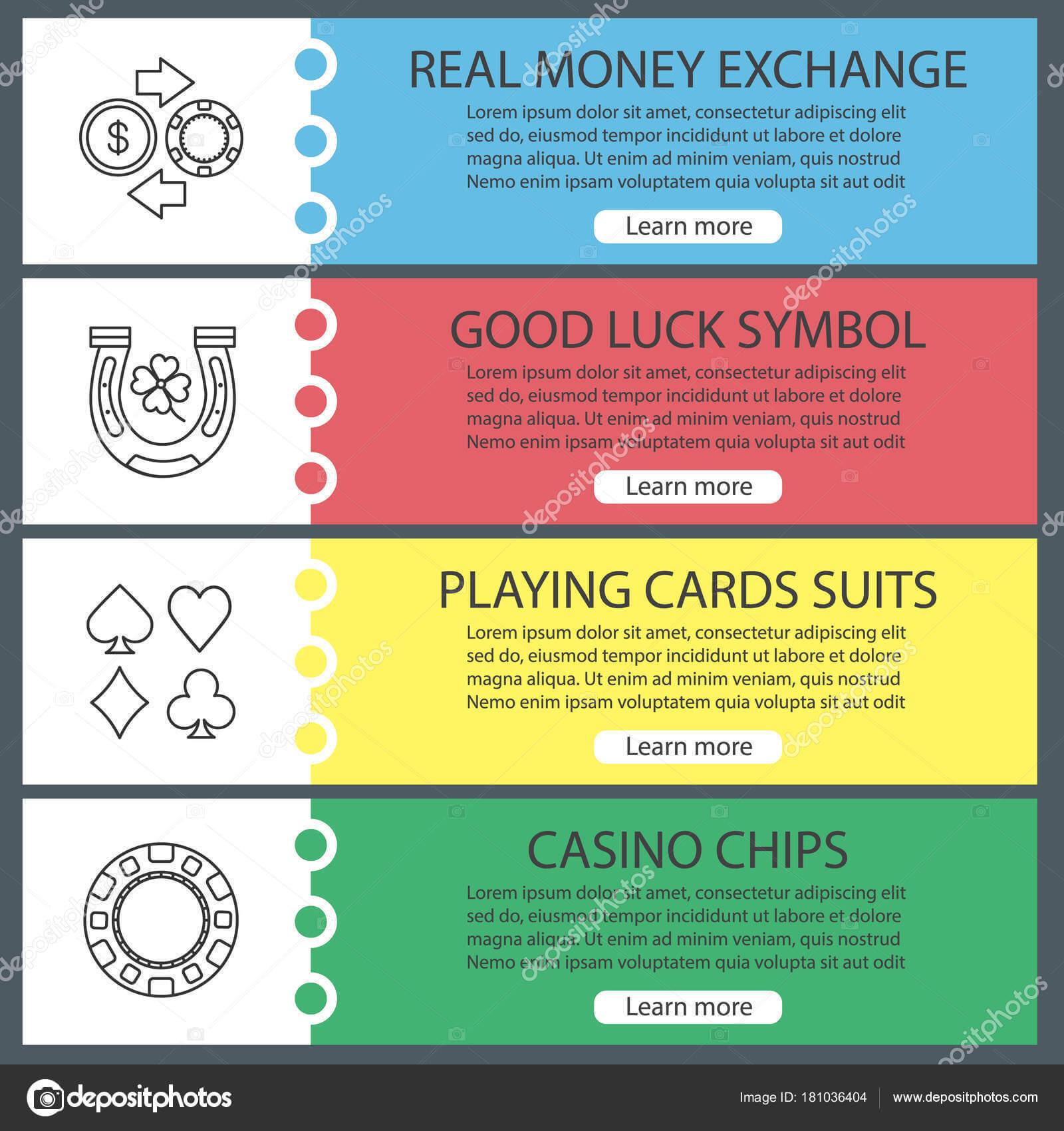 Casino Web Banner Templates Set — Stock Vector © Bsd #181036404 Regarding Good Luck Banner Template
