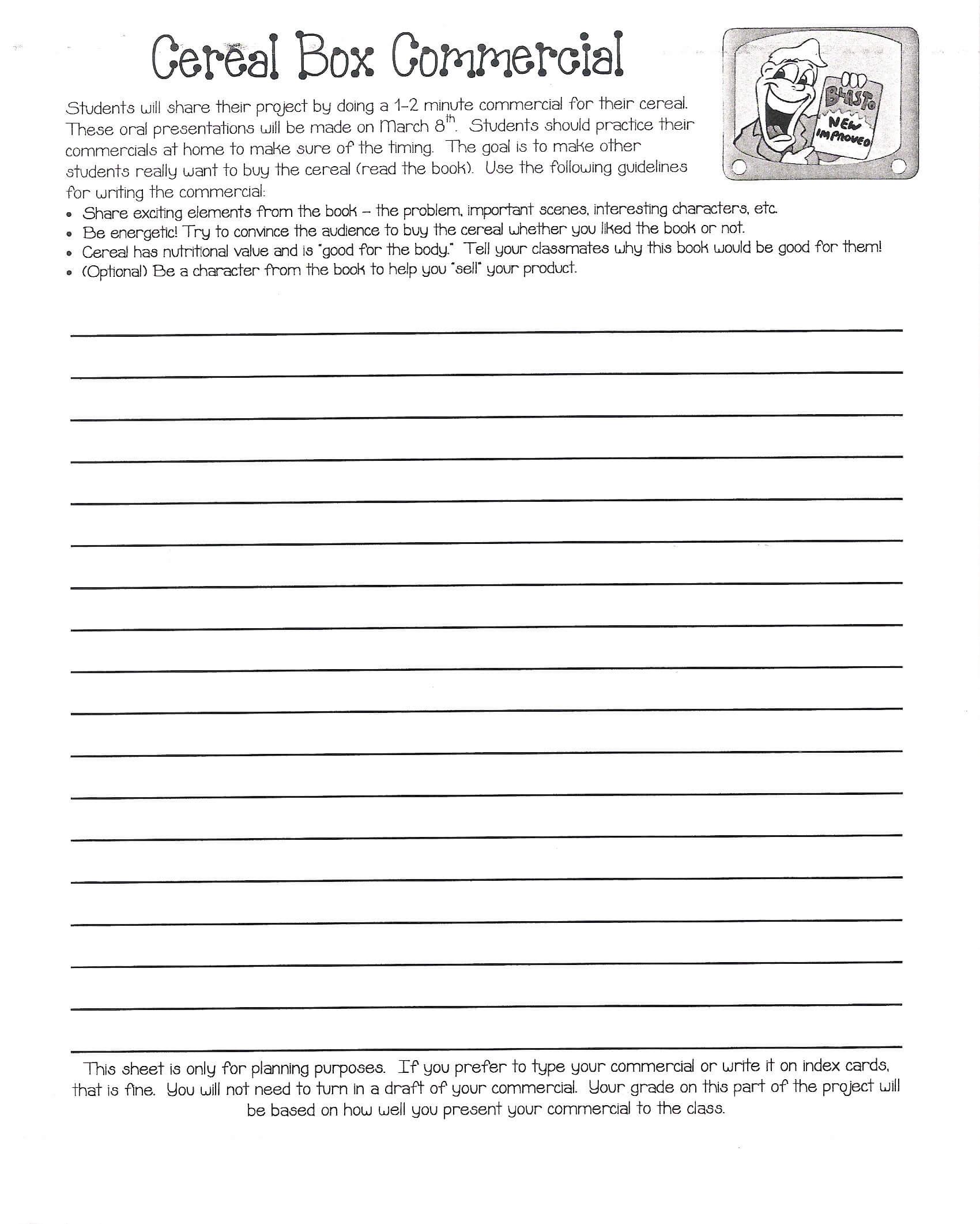Cereal Box Book Report   Mrs. Eubanks' Class Inside Cereal Box Book Report Template