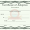 Certificate Of Adoption Template For Blank Adoption Certificate Template