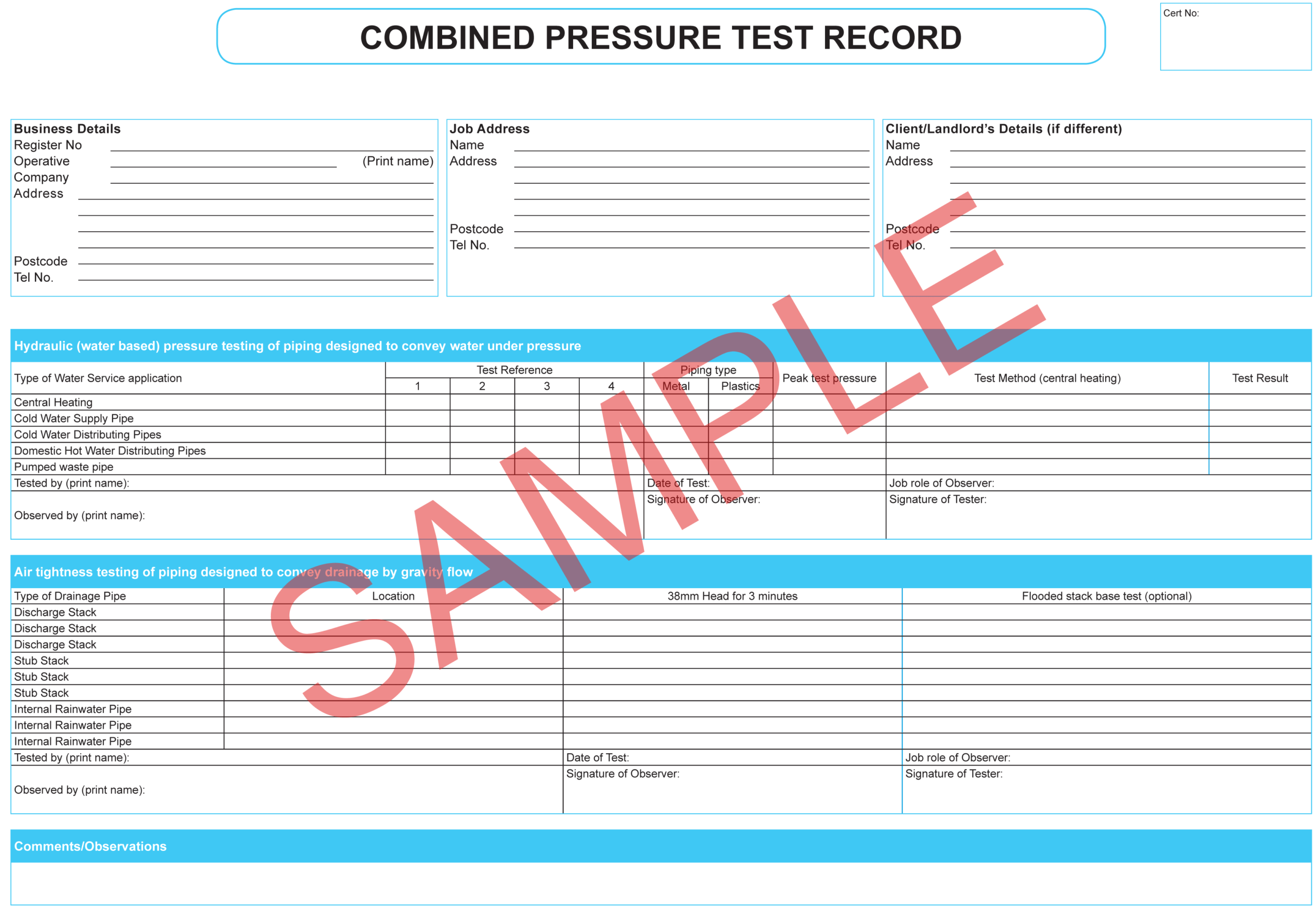 Certificates | Everycert Pertaining To Hydrostatic Pressure Test Report Template