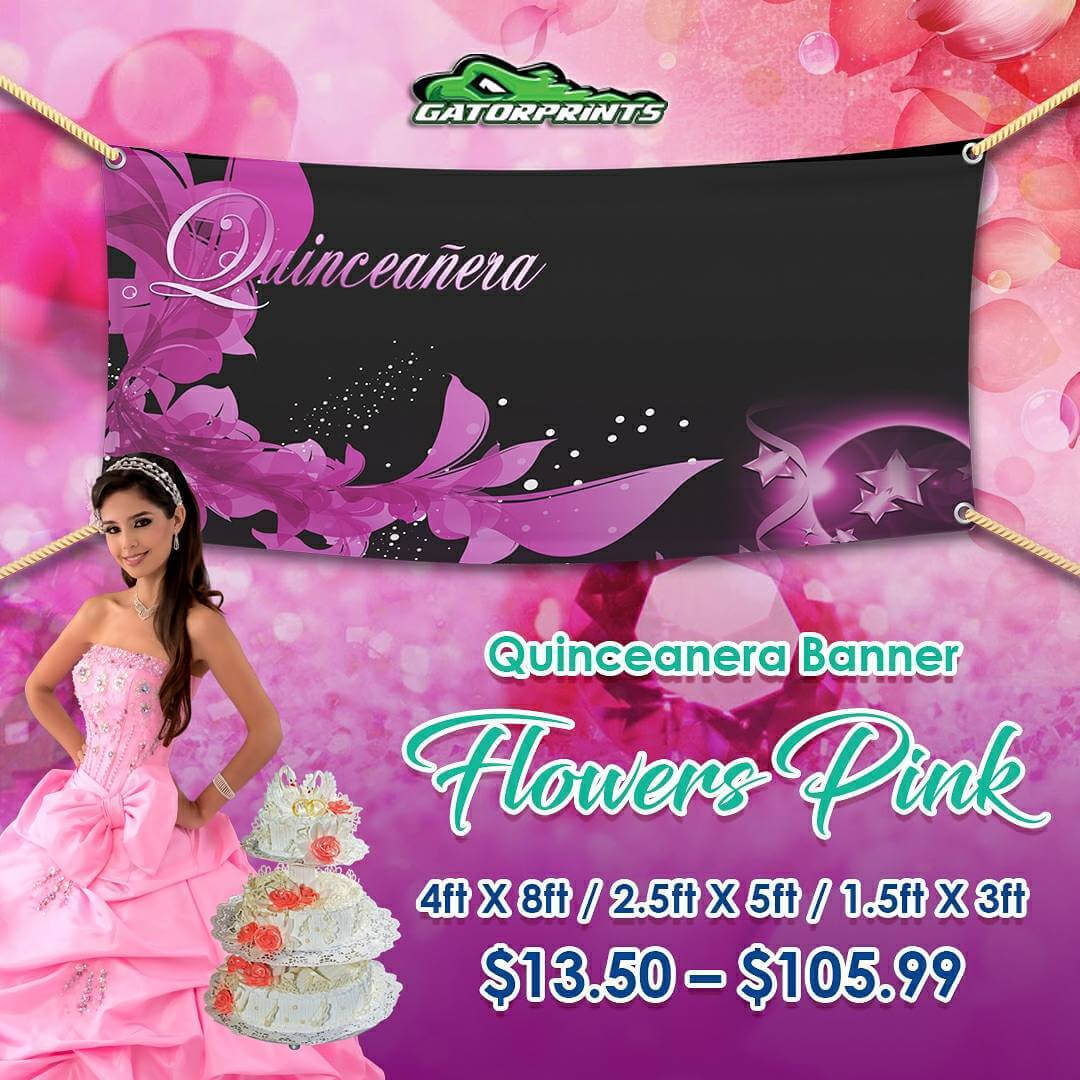 Check Out Our Quinceañera Banners – Gatorprints In Sweet 16 Banner Template