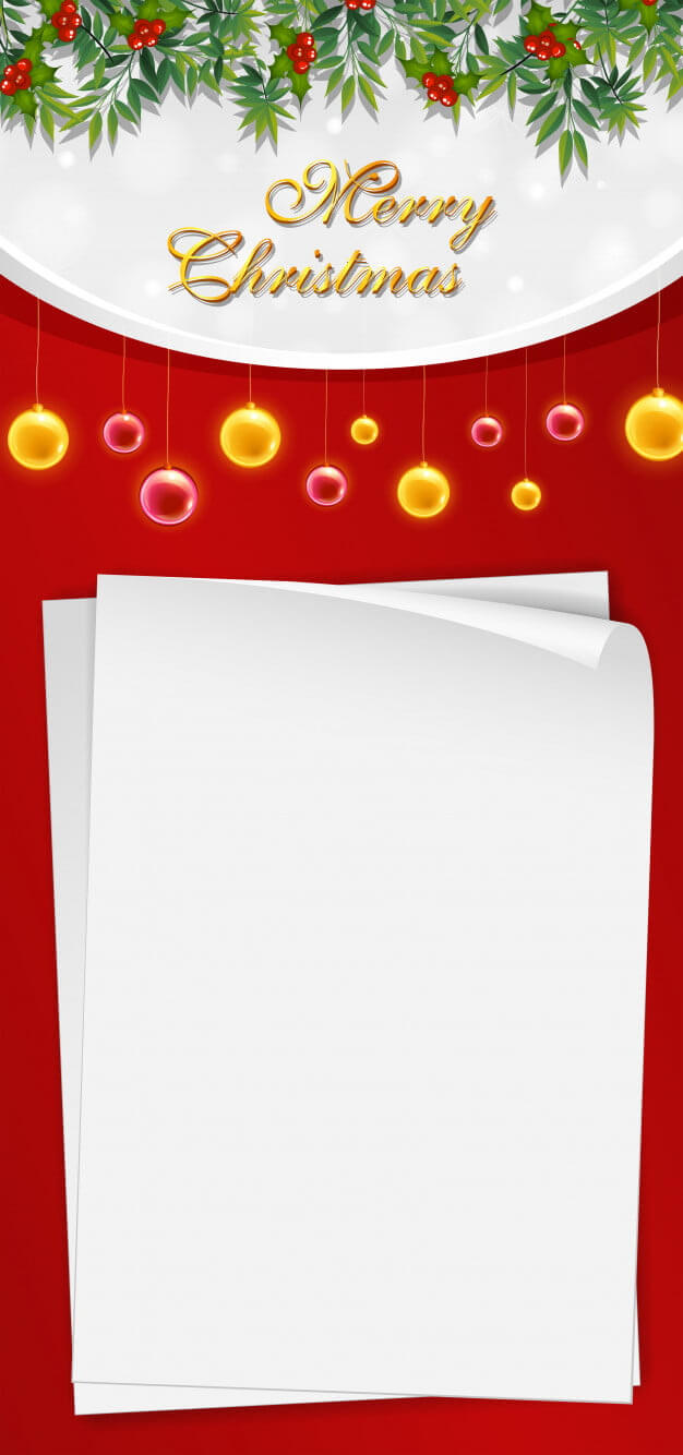 Christmas Card Template With Blank Paper And Mistletoes Eps With Blank Christmas Card Templates Free