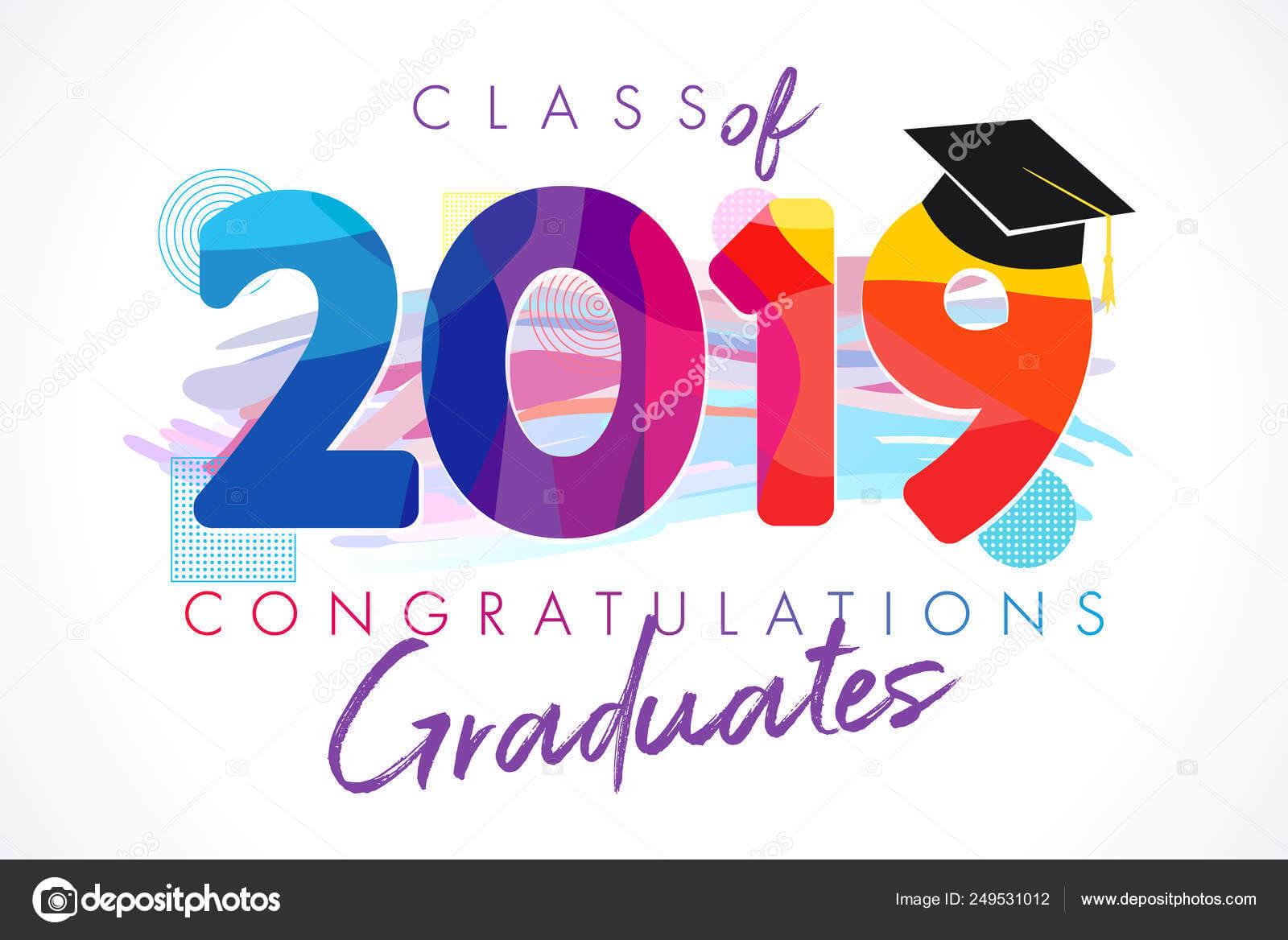 Class 2019 Year Graduation Banner Awards Concept Shirt Idea Regarding Graduation Banner Template
