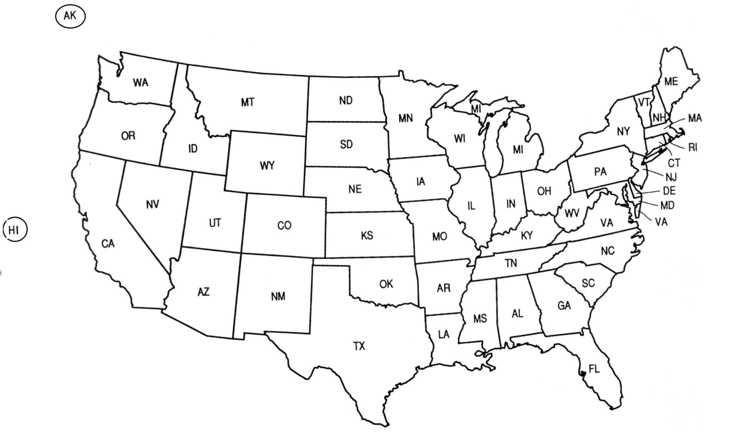 Clipart Of United States Map Outline Pertaining To United States Map Template Blank