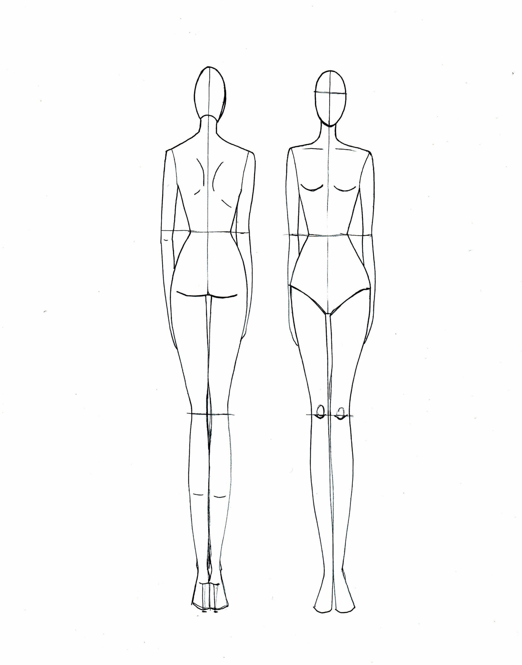 Clothing Model Sketch At Paintingvalley | Explore Throughout Blank Model Sketch Template