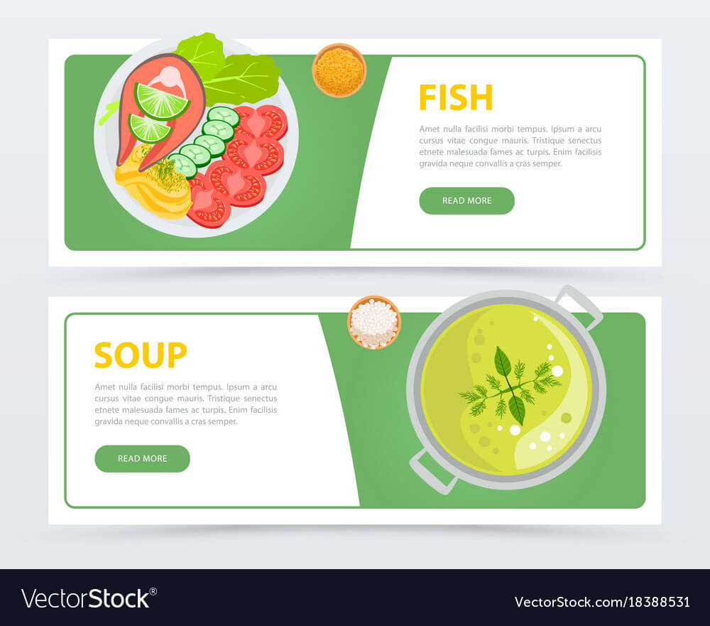 Colorful Horizontal Food Banner Template Pertaining To Food Banner Template