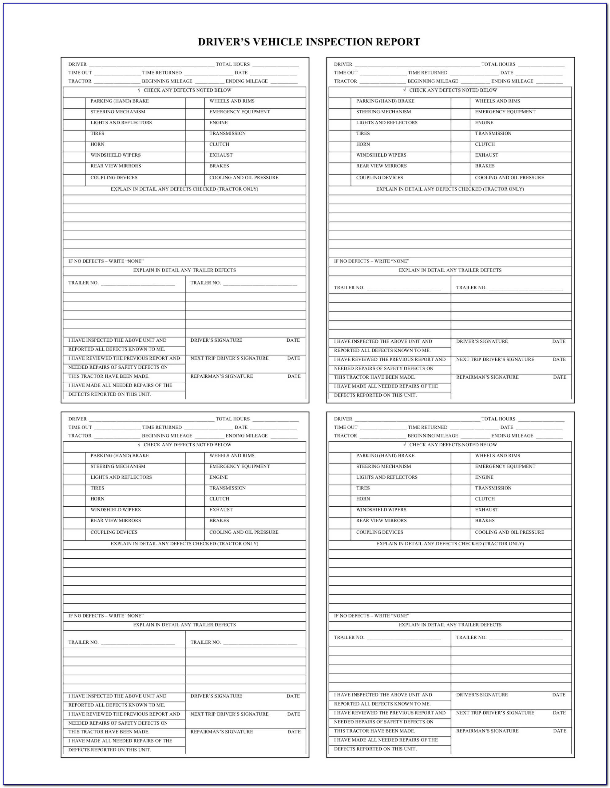Commercial Property Inspection Report Template Unique Part Inside Vehicle Inspection Report Template
