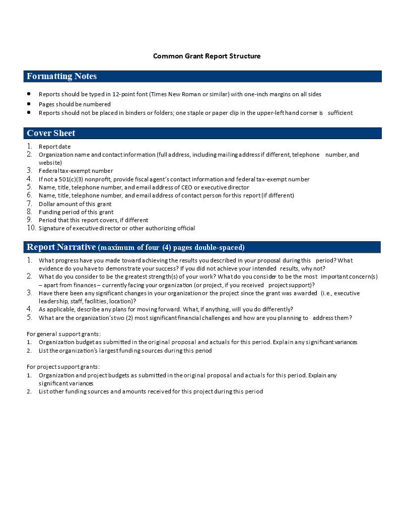 Common Grant Report | Templates At Allbusinesstemplates In Funding Report Template