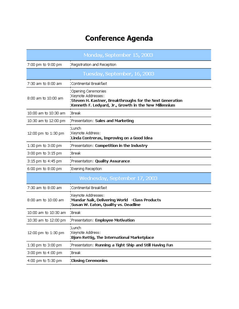 Conference Agenda Template Free Download Call Word Ppt Inside Event Agenda Template Word