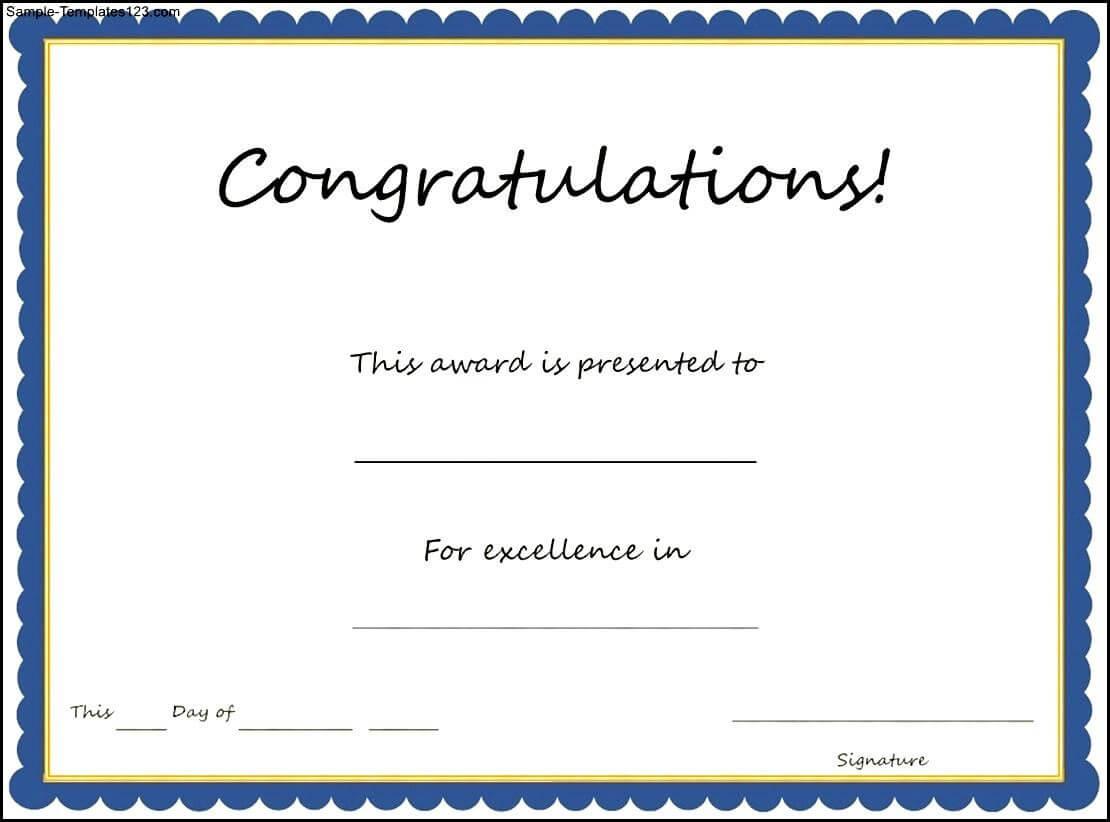 Congratulations Certificates Templates - Tunu.redmini.co Intended For Congratulations Certificate Word Template