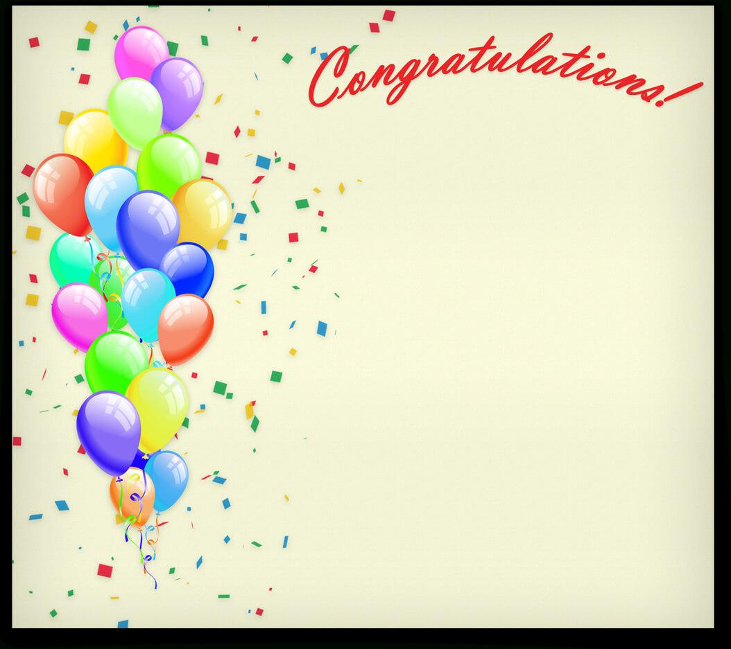 Congratulations Congrats Template Certificate For Congratulations Certificate Word Template