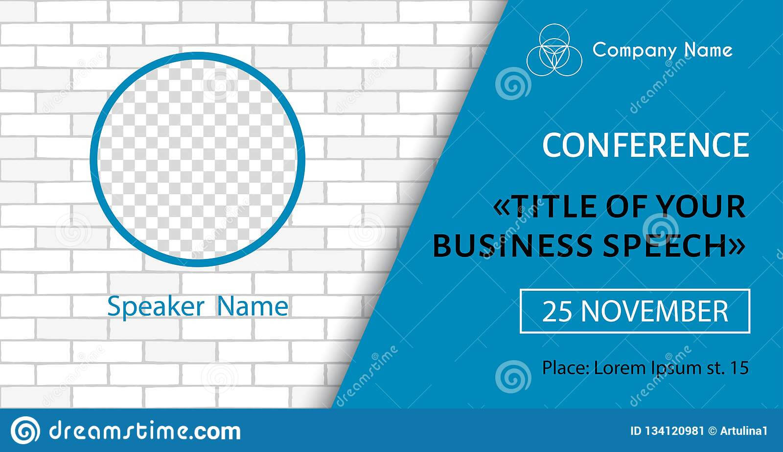 Corporate Announcement Poster Template. Vector Flyer For Pertaining To Event Banner Template